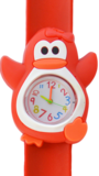 Kinderhorloge happy pinguïn rood_