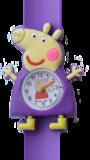 Kinderhorloge happy piggy paars_