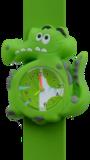 Kinderhorloge blije krokodil groen_