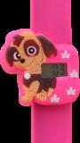 Digitaal kinderhorloge schattige puppy donkerroze_