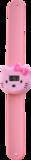 Digitaal kinderhorloge katje met stik lichtroze_