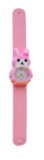Kinderhorloge blij konijn roze_