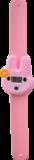 Digitaal kinderhorloge flower bunny roze_