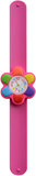 Kinderhorloge kleurrijke bloem donkerroze_