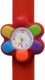 Kinderhorloge kleurrijke bloem rood_