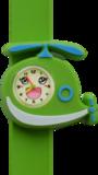 Kinderhorloge blije helikopter groen_