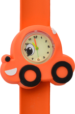 Kinderhorloge lachende auto oranje