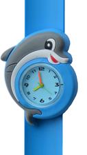 Kinderhorloge blije dolfijn blauw