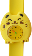Kinderhorloge happy kitty geel