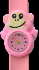 Kinderhorloge blije aap lichtroze
