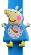 Kinderhorloge happy piggy blauw