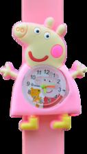Kinderhorloge happy piggy lichtroze