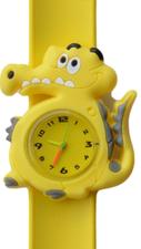 Kinderhorloge blije krokodil geel