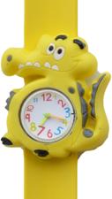 Kinderhorloge blije krokodil geel/wit