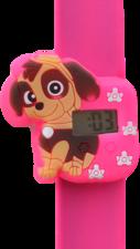 Digitaal kinderhorloge schattige puppy donkerroze