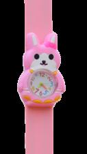 Kinderhorloge blij konijn roze