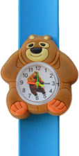 Kinderhorloge chubby beer lichtblauw