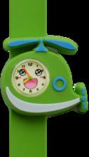Kinderhorloge blije helikopter groen
