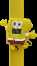 Digitaal kinderhorloge blije spons geel