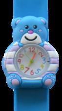 Kinderhorloge blije beer blauw