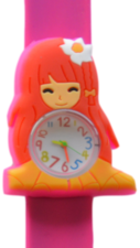 Kinderhorloge flower girl donkerroze