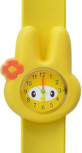 Horloge flower bunny geel