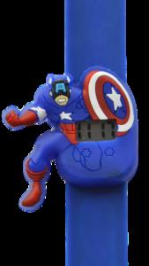 Digitaal kinderhorloge superheld Amerika donkerblauw