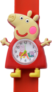 Kinderhorloge happy piggy rood