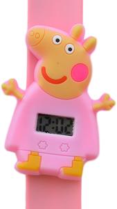 Digitaal kinderhorloge happy piggy lichtroze