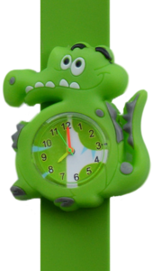 Kinderhorloge blije krokodil groen