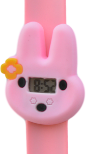 Digitaal kinderhorloge flower bunny roze