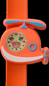 Kinderhorloge blije helikopter oranje